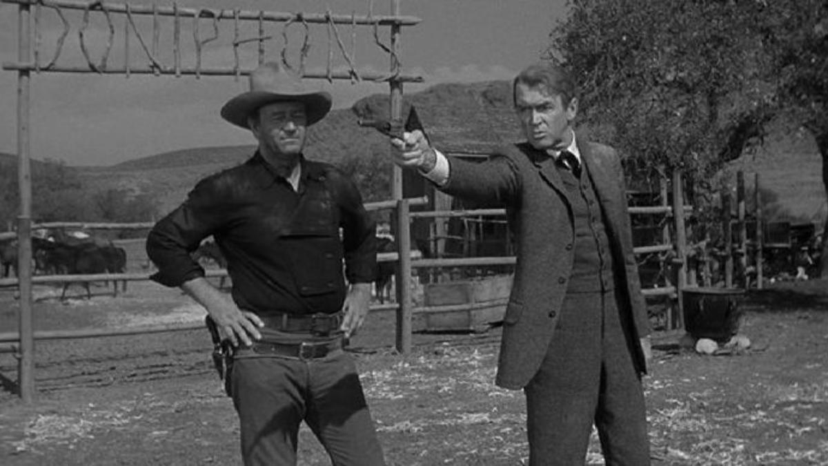 """「リバティバランスを撃った男」""""The Man Who Shot Liberty Valance""""(1962)"""