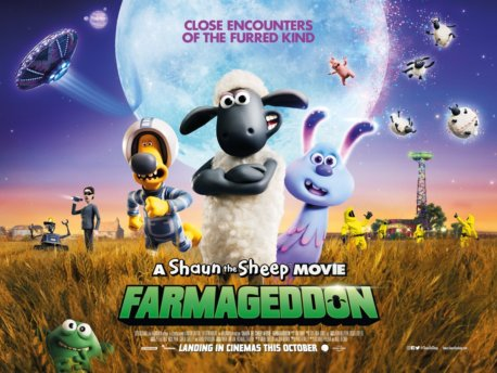 "「ひつじのショーン UFOフィ""ーバー!」""A Shaun the Sheep Movie: Farmageddon""(2019)"